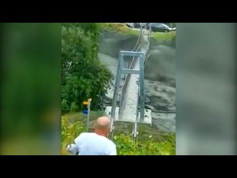 Gewaltige Schlammlawine in der Schweiz