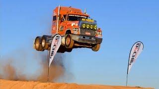 Прыжок с трамплина на грузовике