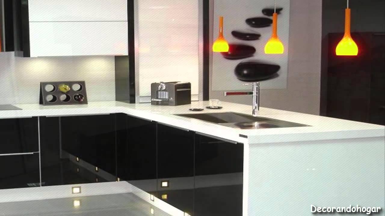 Cómo decorar una cocina moderna a Blanco y Negro - YouTube
