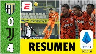 Parma 0-4 Juventus. Golazos de Cristiano Ronaldo. La Juve cerca de la cima. Imparable CR7 | Serie A
