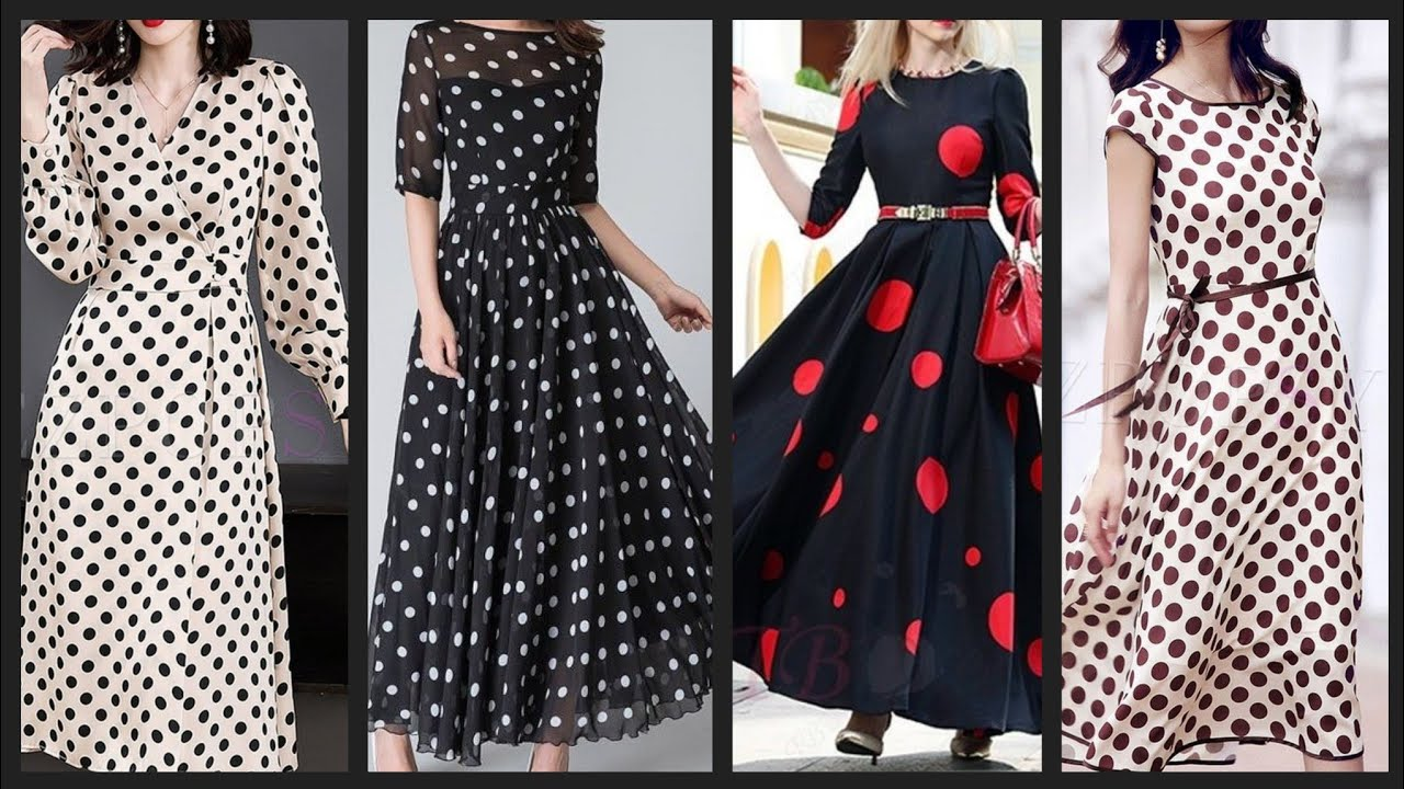 outstanding Polka dot dresses collection for women and girls - YouTube