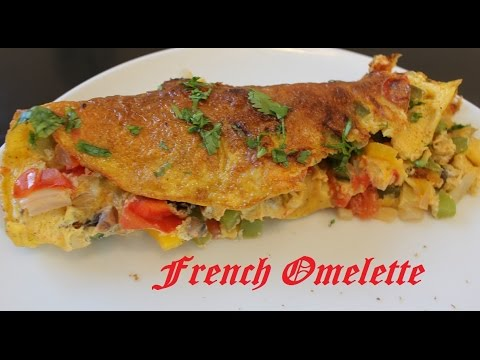French Omelette Recipe Fluffy French Omelette With Vegetables By Harshi S Kitchen Youtube