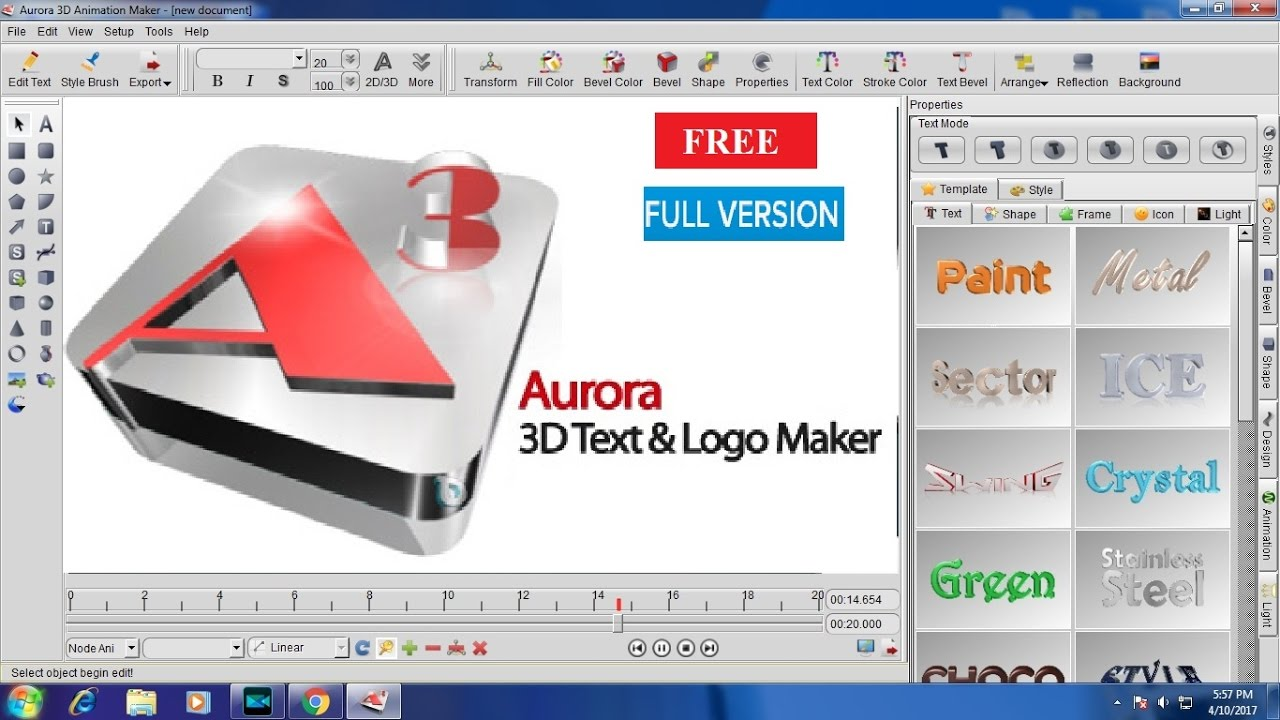aurora 3d animation maker free download for windows 10
