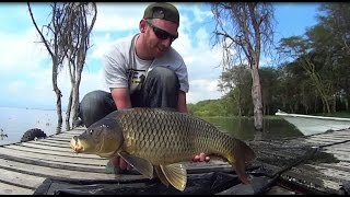 Karpervissen in Afrika met teammember Rick : An African carpfishing adventure