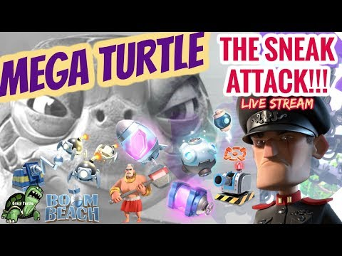 Boom Beach - Crazy MEGA Turtle - STAGES 1-41! Almost ALL SOLOS! - The SNEAK ATT@CK! Muahahaha
