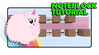 "PINK FLUFFY UNICORNS DANCING ON RAINBOWS Doorbell - ""Note Block Tutorial"" (Minecraft)"