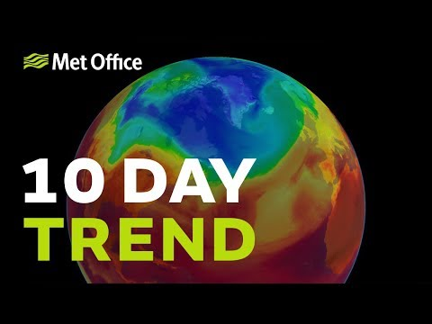 10 Day trend – The jet stream brings spells of wind and rain 03/10/18