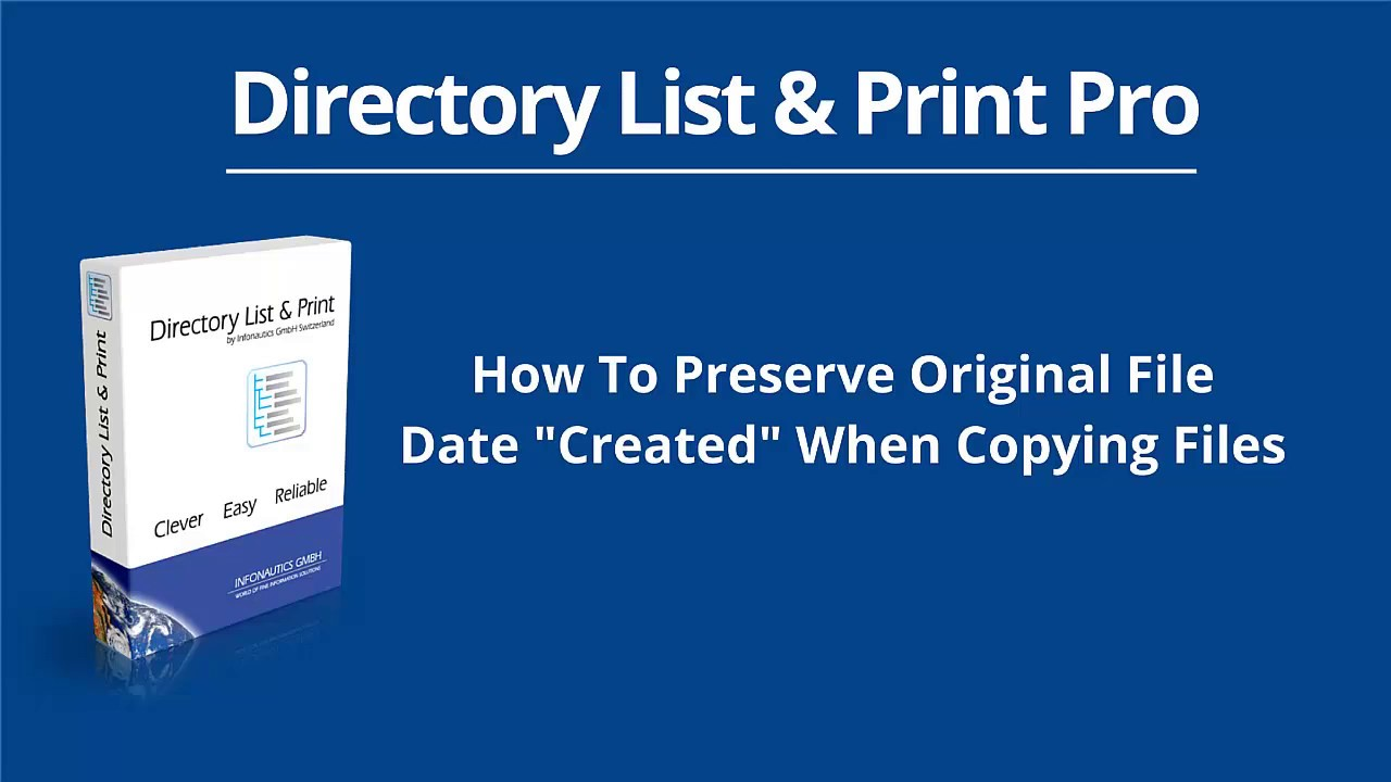 "How To Preserve Original File Date ""Created"" When Copying ..."