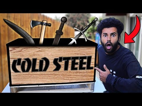 I Bought A $2,500 Cold Steel WEAPONS CRATE On eBay!! *MYSTERY SUPPLY DROP*