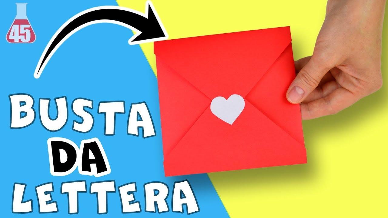 Preferenza Come fare una busta da lettera | Busta per biglietto di auguri fai  GN64