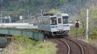 JR四国1000形土佐新荘駅を発車