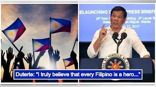 Duterte urges Filipinos to be 'everyday heroes' on National Heroes' Day