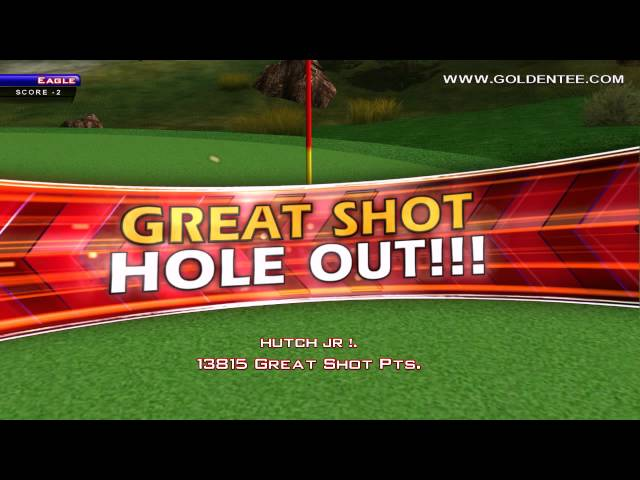 Golden Tee Great Shot on Grizzly Flats!