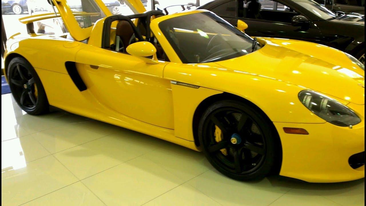 Porsche Carrera GT Yellow - YouTube