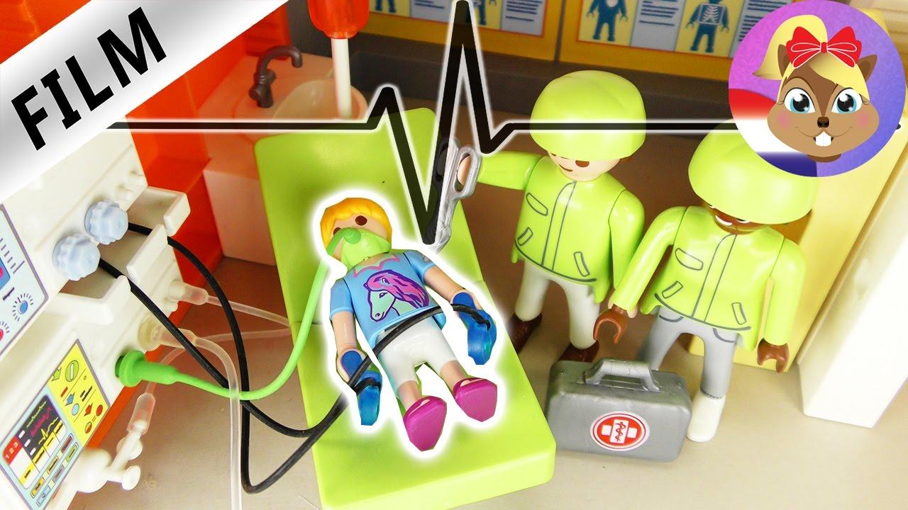 playmobil filmpjes nederlands | spoedoperatie? - hannah in het