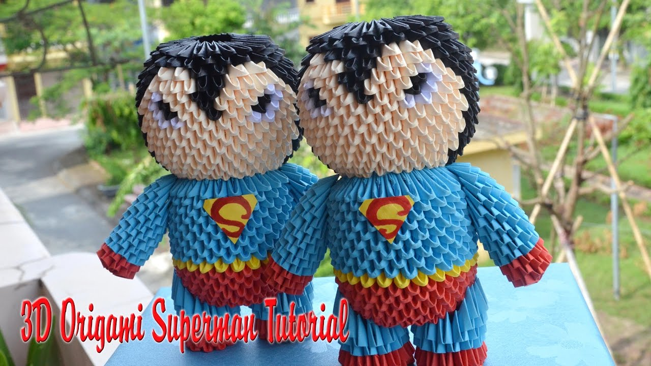 How to make 3d origami superman diy paper superman youtube how to make 3d origami superman diy paper superman jeuxipadfo Image collections