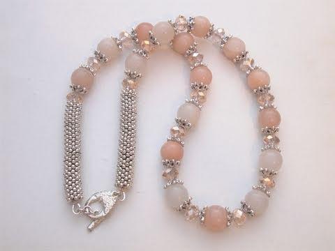 Sarubbest collana e orecchini realizzata con cristalli for Orecchini con pietre dure fai da te