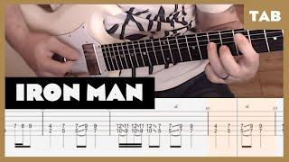 Iron Man Black Sabbath Cover   Guitar Tab   Lesson   Tutorial