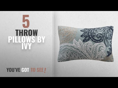Top 10 Ivy Throw Pillows [2018]: INK+IVY Kiran Embroidered Cotton Lumbar Throw Pillow