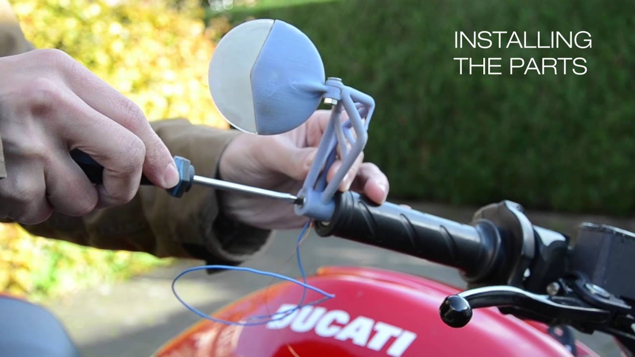 3d printed motorcycle mirror youtube - Where can i buy a 3d printed house ...