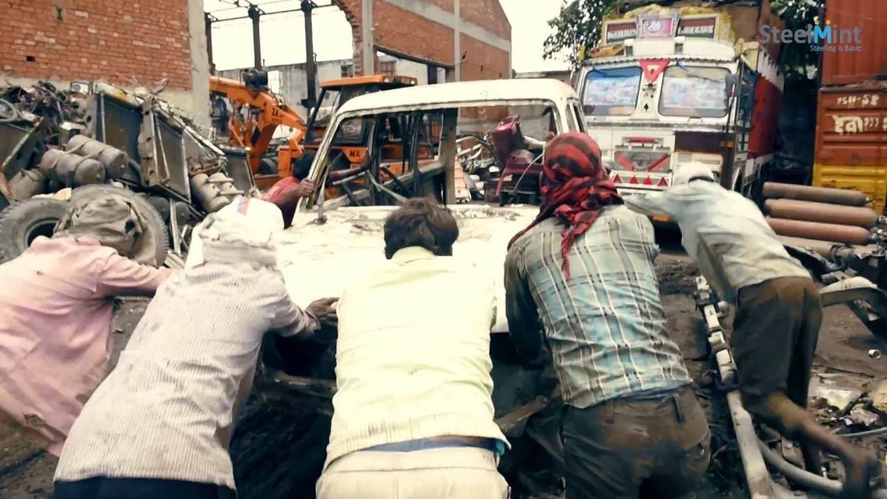 Auto Recycling In India Biography Mayapuri Scrap Market Youtube