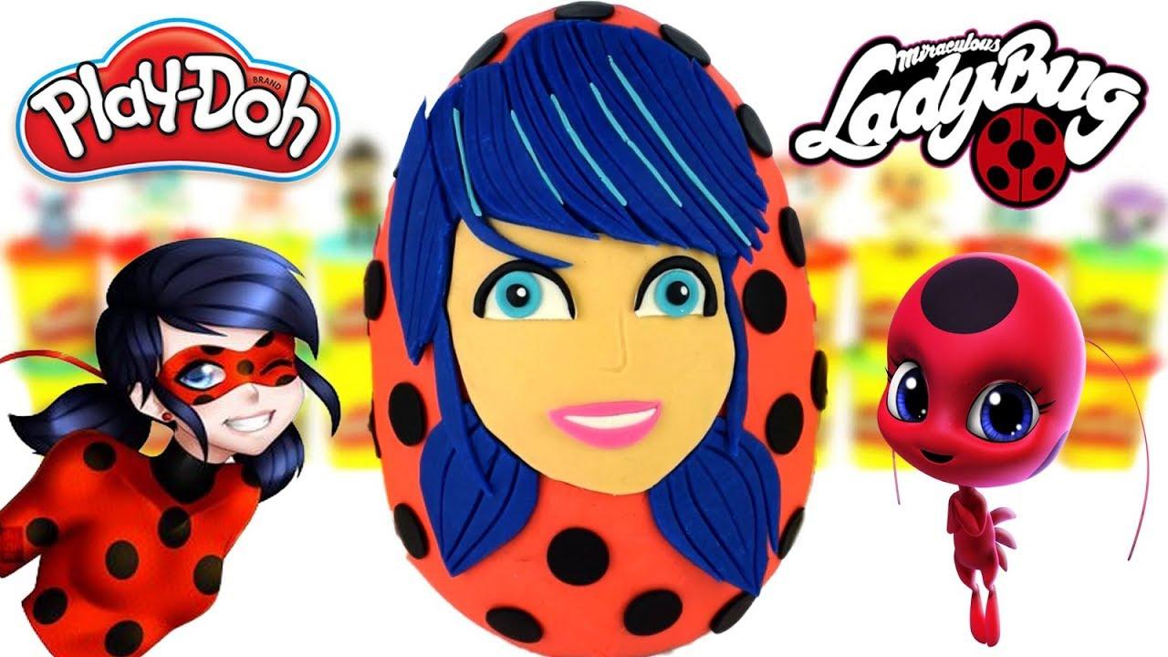 Download Huevo Sorpresa Gigante de Marinette Prodigiosa Las Aventuras de Ladybug de Plastilina en Español