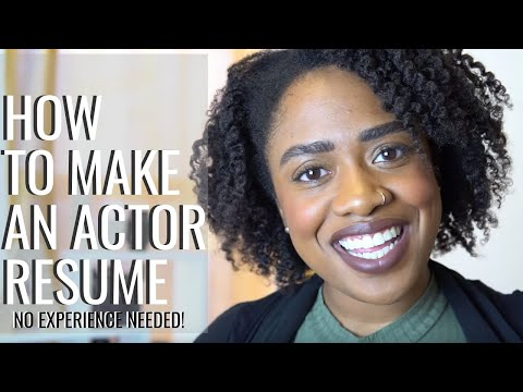 How to make an Actor Resume