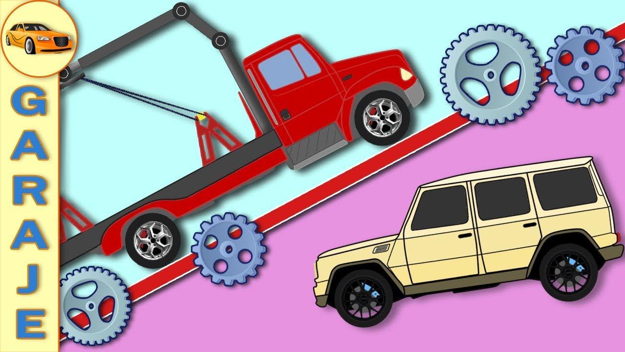 Garaje de coches para ni os camion de remolque dibujos - Garaje de coches ...