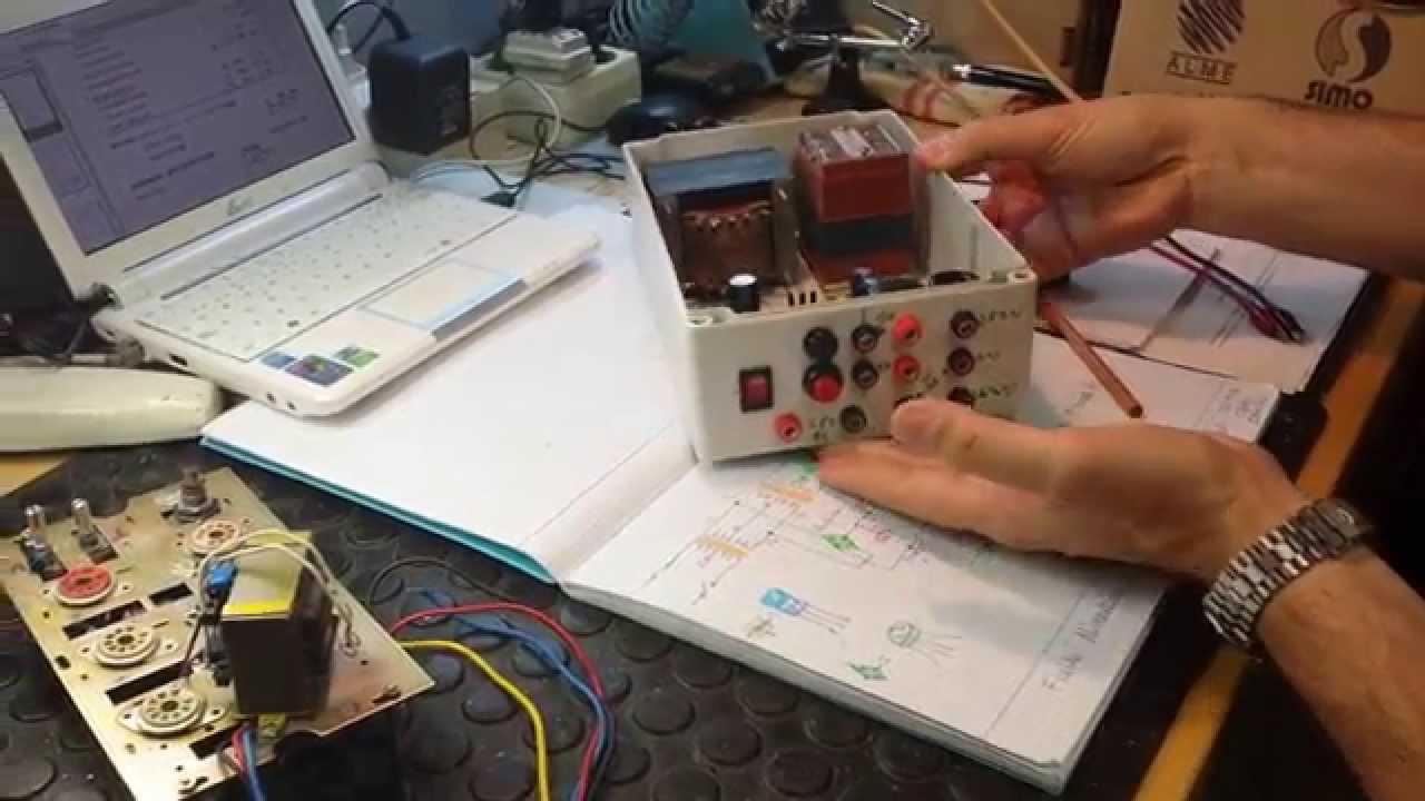 Tutorial 1 construccion fuente de laboratorio para - Fuente de pared ...