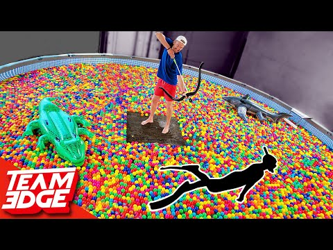 Shoot the Person Swimming in the Ball Pit!! | 10,000 Play Ba
