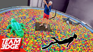 Download Shoot the Person Swimming in the Ball Pit!! | 10,000 Play Balls in a Pool!! Mp3 and Videos