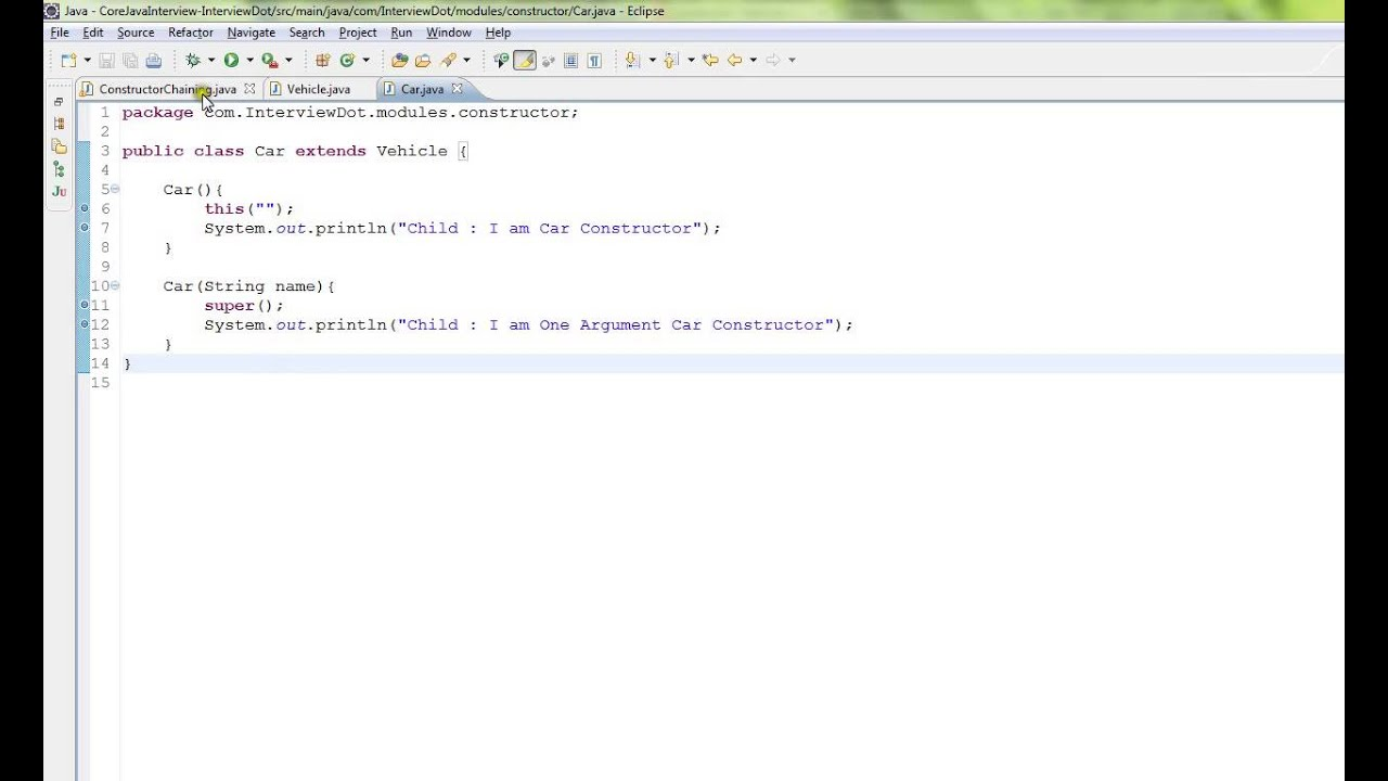 Constructor chaining in java example demo youtube constructor chaining in java example demo baditri Image collections
