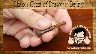 How to date antique furniture- Shaker chest of drawers