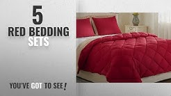 Top 10 Red Bedding Sets [2018]: Lightweight Solid Comforter Set (Queen) with 2 Pillow Shams -