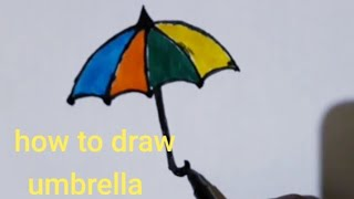 How to draw umbrella/how to draw easy step by step