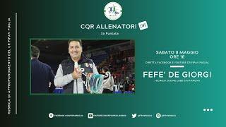 #fipavpuglia #CQRAllenatoriLive CQR Allenatori Live - 3a puntata con Fefè De Giorgi