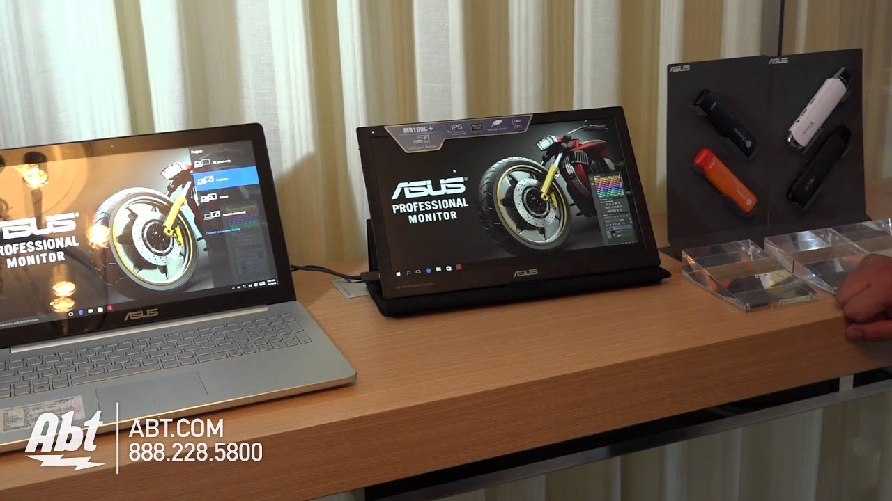 ASUS 156 Inch MB169C Portable IPS Monitor Abt CES 2016