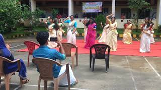 Onam celebration by 2k14 batch girls of igidc..dental collage .kothamangalam