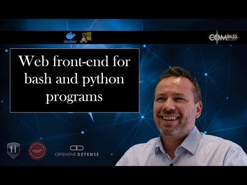 Graphisches Web UI vor einem Shell oder Python Script Docker Template