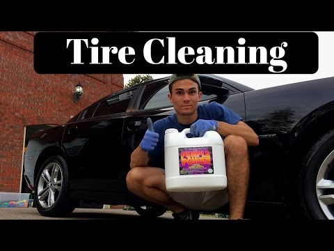 How To Clean Your Car Tires: Purple Power Degreaser