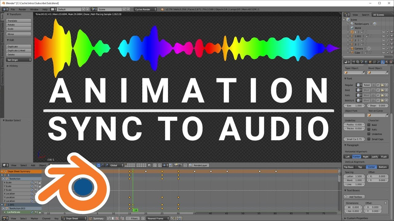 Sync Animation to Audio or Music in Blender
