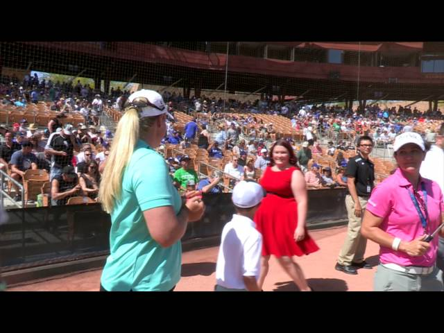 Brittany Lincicome Throws First Pitch at Chicago White Sox Spring Training Game