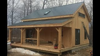 20x30 Timber Frame Vermont Cabin Mortise And Tenon 8x8 Hemlock