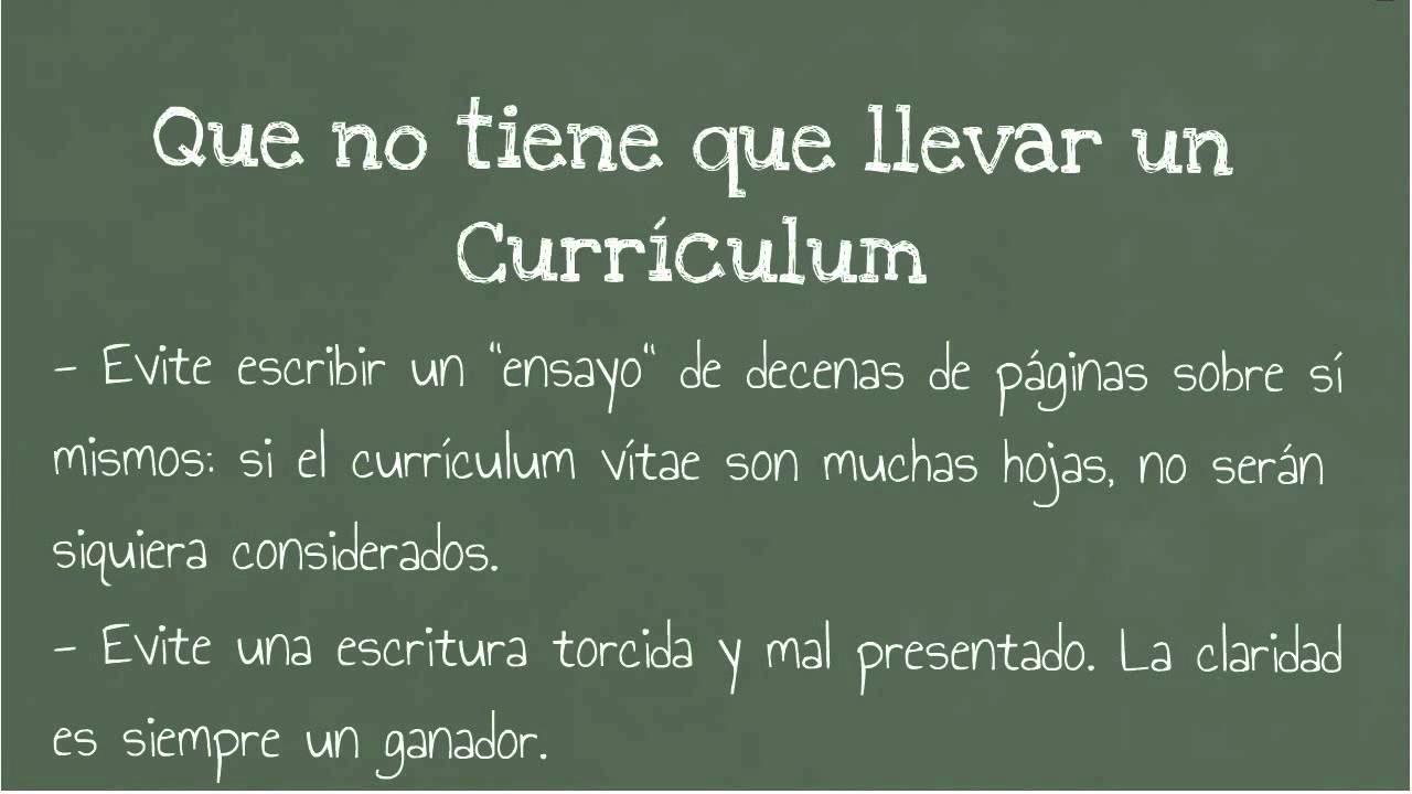Que datos necesita un curriculum vitae - ¿Qué es el resumen ...