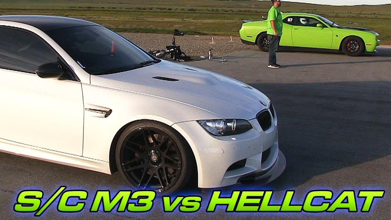 M3 Vs Hellcat Drag Race Supercharged Bmw E92 M3 Vs Dodge