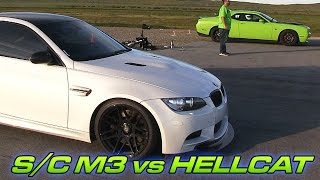 Supercharged M3 vs Challenger Hellcat