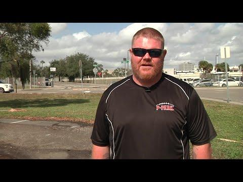 Kenneth Crawford, the head football coach at Pinellas Park High School