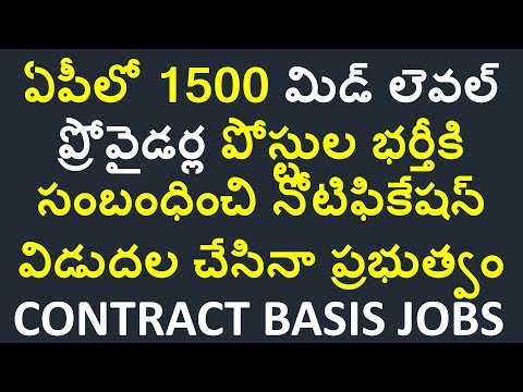 ap latest govt jobs 2018 | mid level provider 1500 posts in ap zone wise