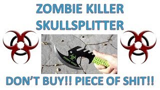 Zombie Killer Skullsplitter Throwing Axe - First Throws
