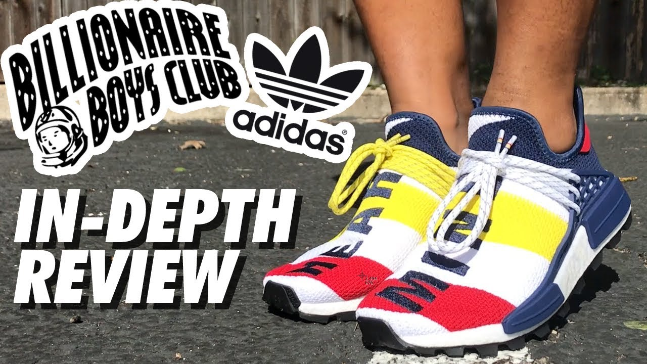 38e7910cf BBC x PHARRELL HUMAN RACES x ADIDAS SHOE REVIEW! - YouTube